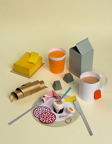 paper breakfast by SARAH ILLENBERGER